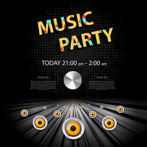 Party Poster Background easy all editable