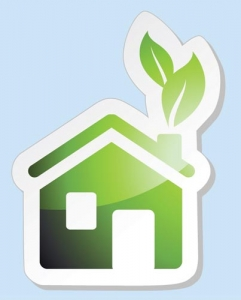 Natural green house vector