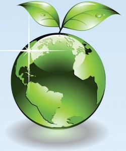 Natural green globe vector