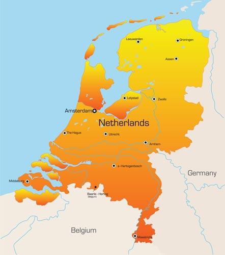 Netherlands vector maps