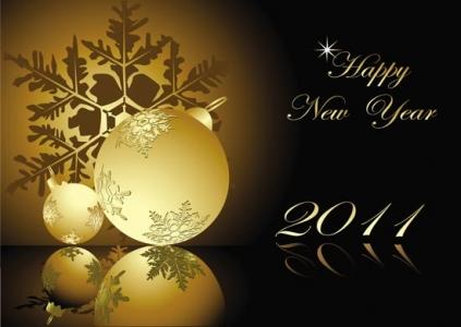 New year 2011 vector