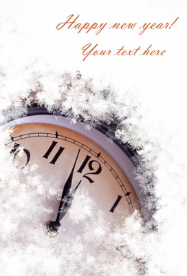 New year clock photo template