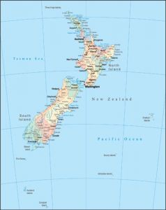 New Zealand vector map