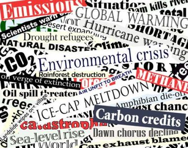 Newspaper headlines collage vector
