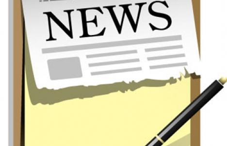 Newspaper icon vector