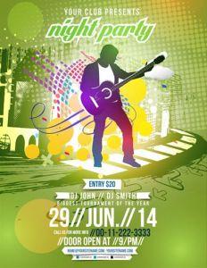 Night club party brochure vector
