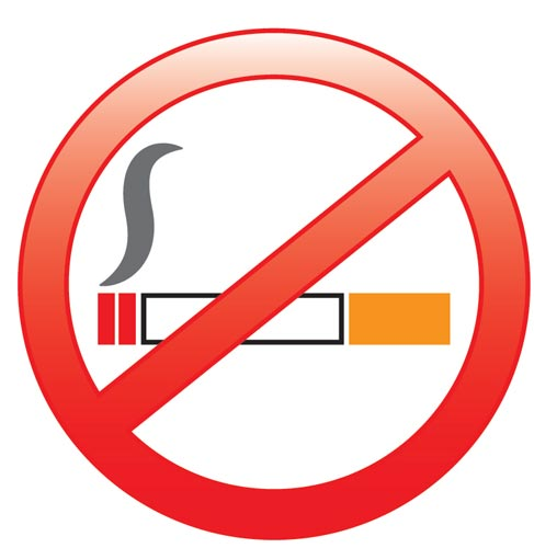 how to draw a no smoking sign