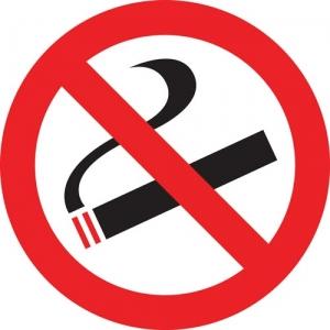 No smoking symbol vector