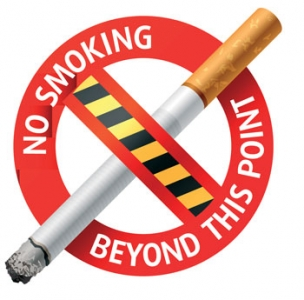 No smoking vector label