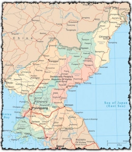 North Korea Vector Map