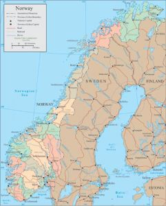 Norway vector map
