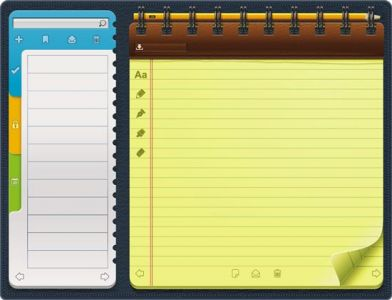 Notebook organizer template in eps format