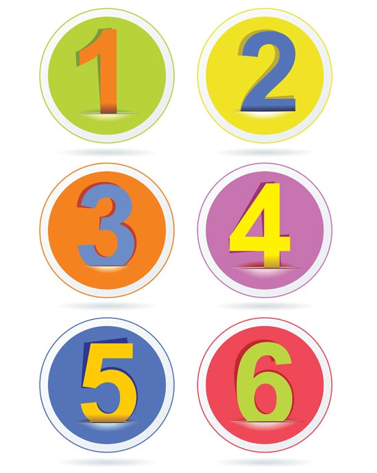 Number Designs Photoshop Photoshop Layered Design