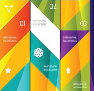 Numbered geometric shapes vector