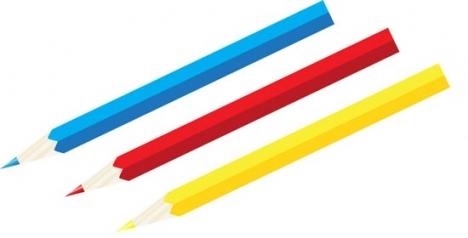 Office crayons vector