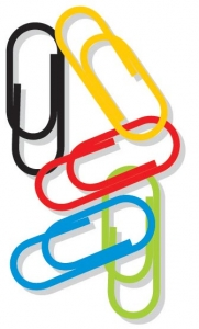 Office paperclips vector