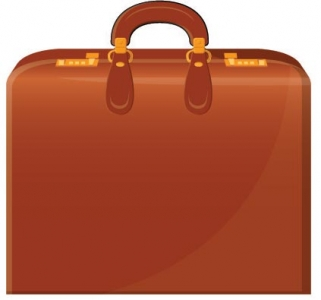 Office suitcase vector