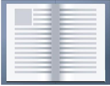 Open book vector