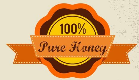 Honey bee vector label set