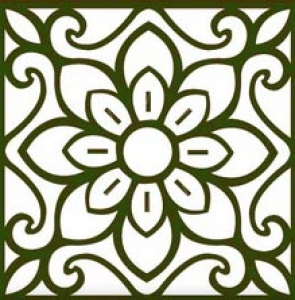 Oriental decoration template