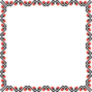 Oriental ornament border