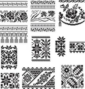 Oriental ornament border