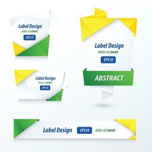 Label, Ribbon Origami Style, brazil Style