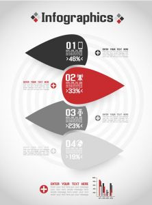 Origami business banners infographics vector