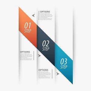 Origami business vector design