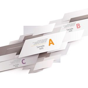 Origami business vector in white colors
