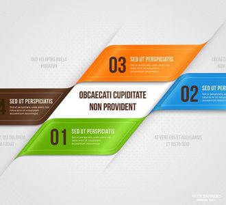 Origami business vector design