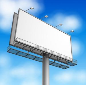 Outdoor advertising billboards vector