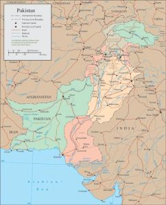 Pakistan vector map
