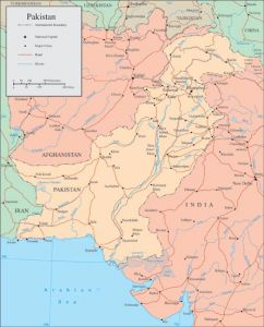 Pakistan vector map