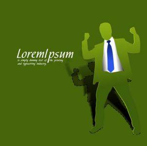 Green paper businessman vector