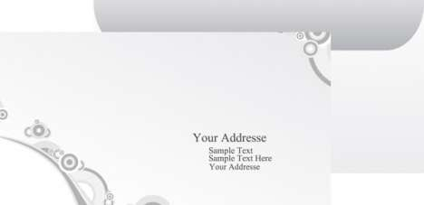 Paper envelope vector layout