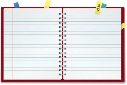 Paper notebook vector design