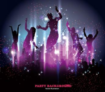 Party people silhouettes vectors