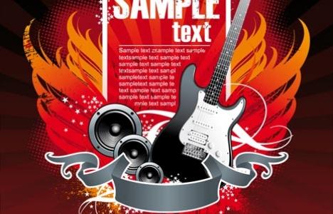 Guitar design banner