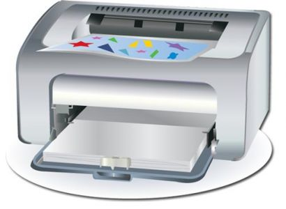 White printer device vector