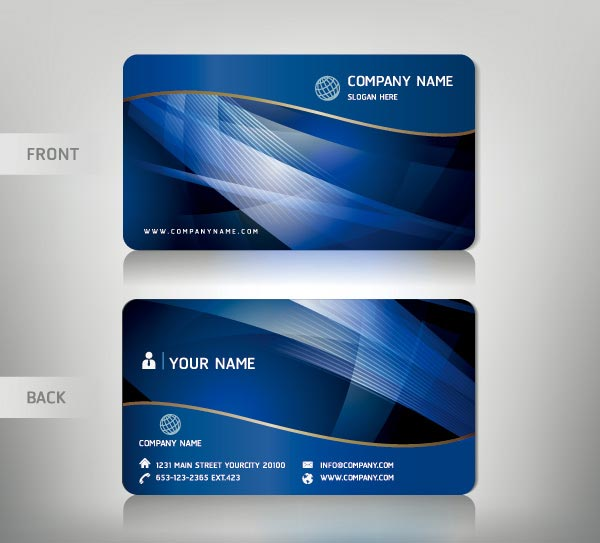 Personalized business card vectors colourmoves