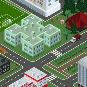 Isometric vector city