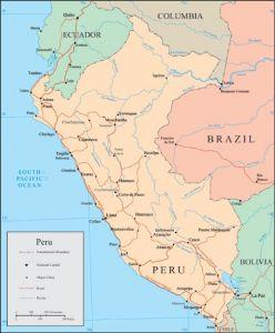 Peru vector map
