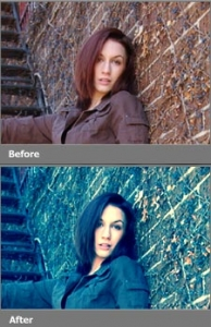 Photo action for Photoshop
