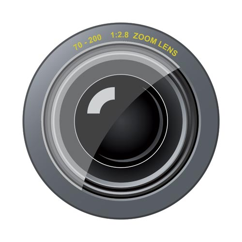 License you can use photo camera lens vectors for personal or