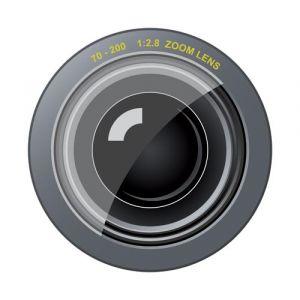 Photo camera lens template