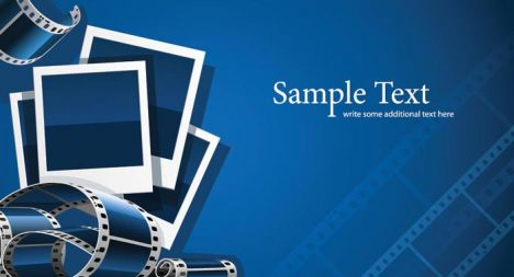 Photography film strips vector