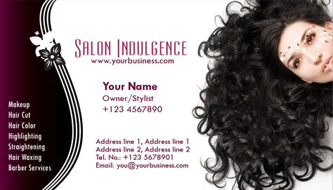 Photoshop business cards beauty salon flashek Images