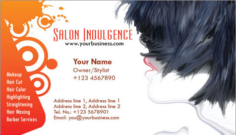 Photoshop business cards beauty salon colourmoves