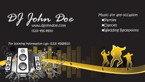 Clubbing business cards models